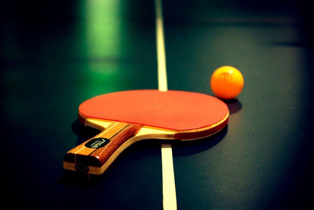 Настольный теннис открытка
