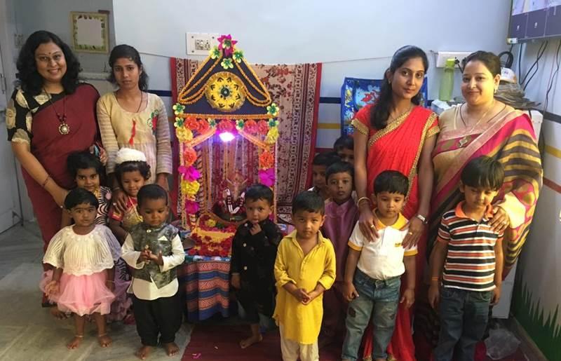 Ganesh Utsav at Time Kids Katol Road