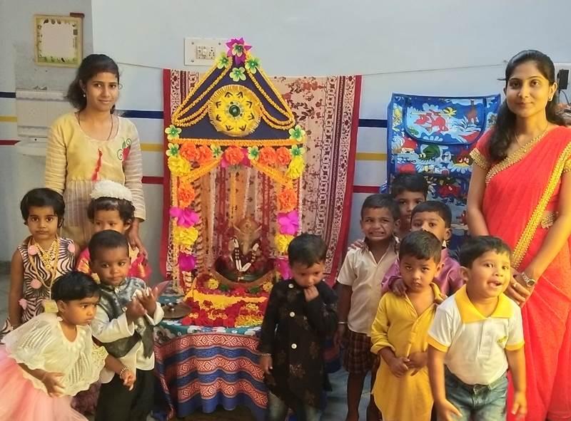 Ganesh Utsav celebrations at Time Kids Katol Road