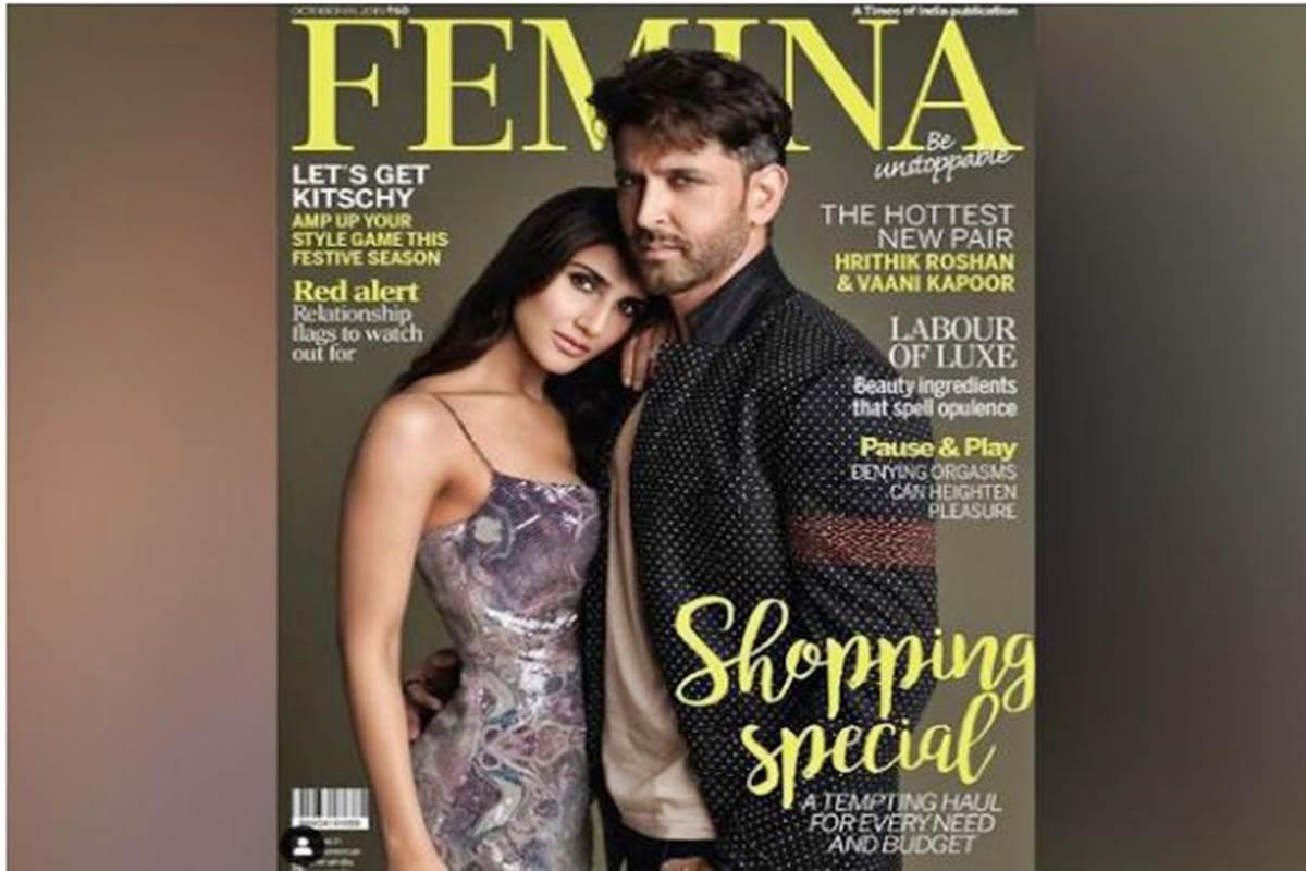 Hrithik Roshan, Vaani Kapoor pose in style for Femina
