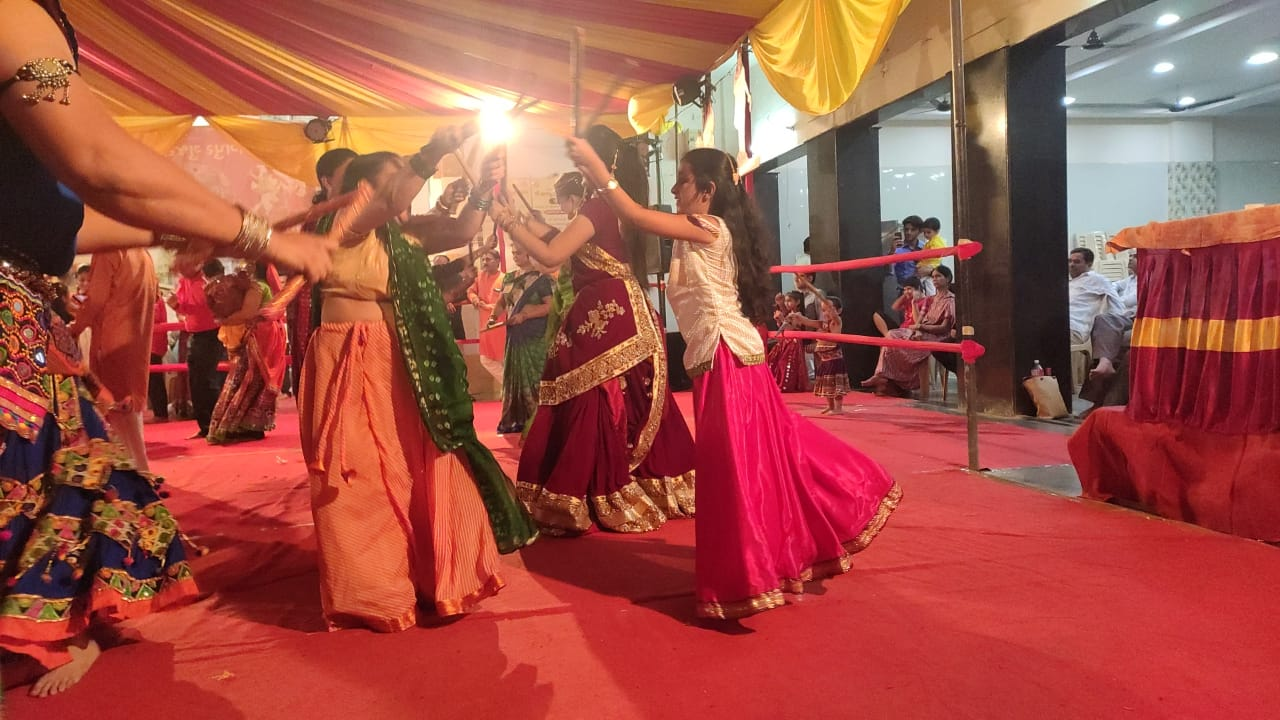 Colours of tradition splash Gujarati Brahm Samaj this Navratri Garbha dance