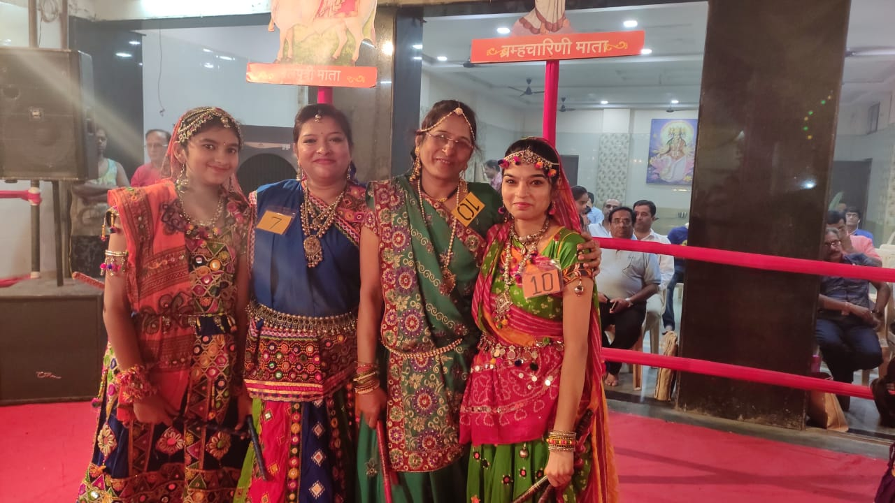 Garba Night Enthralled All at Jerryl Lawn